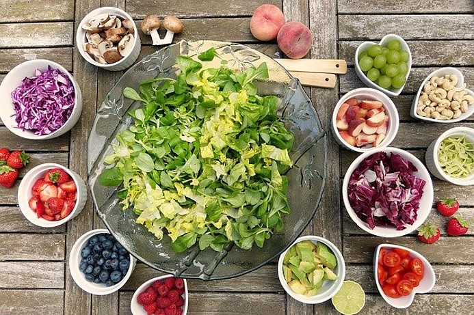 diet picture to convey effect of it on health