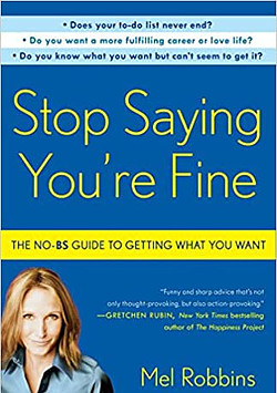 Stop saying you're fine book cover photo