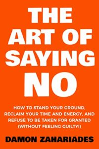 the art of saying no book cover photo